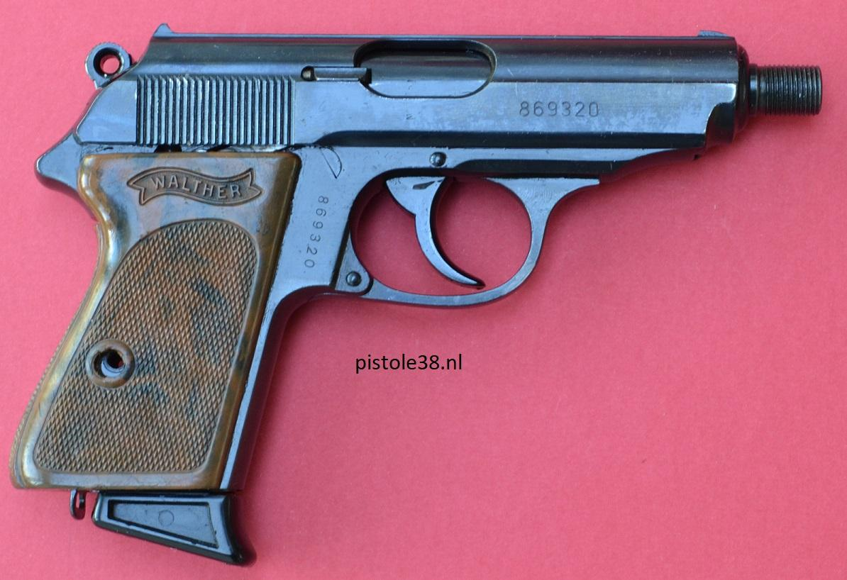 Walther PPK modified by the East German Stasi to mount a suppressor