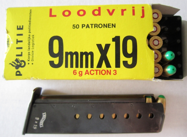 Dutch police Action3 ammunition 9x19mm