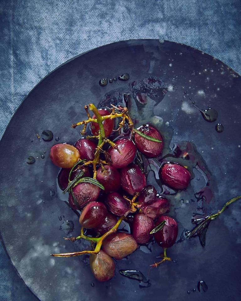 Foodstyling grapes