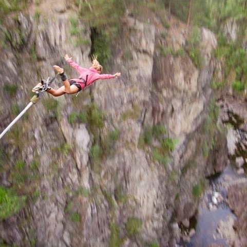 Bungeejumpen in Rjukan